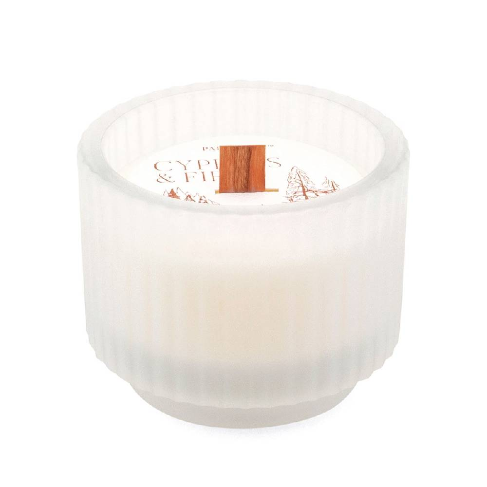 Paddy Wax 5oz Frosted White Ribbed Jar Candle - Cypress & Fir HOME & GIFTS - Home Decor - Seasonal Decor Paddywax Teskeys