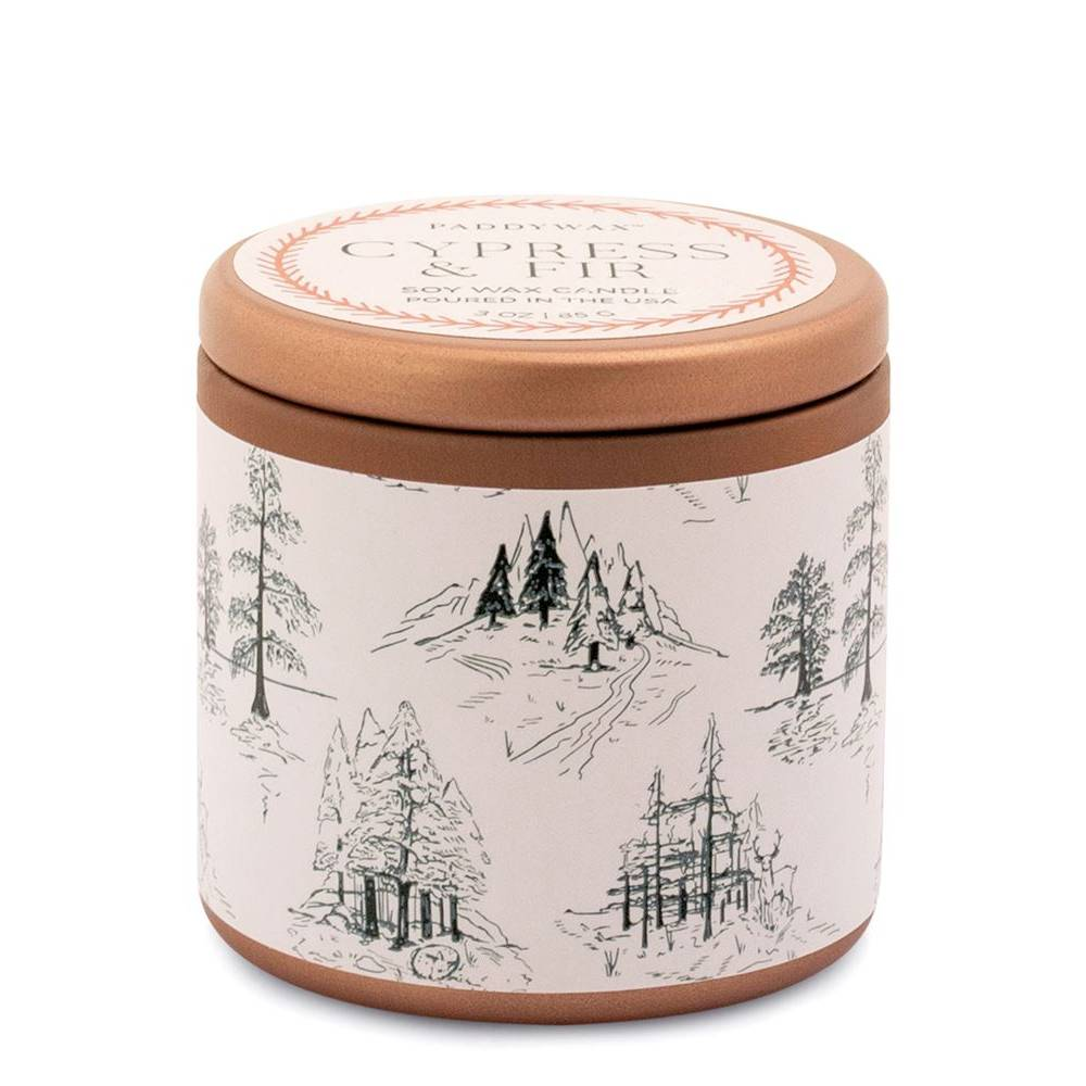 Paddywax 3oz Copper Tin - Cypress & Fir HOME & GIFTS - Home Decor - Seasonal Decor Paddywax Teskeys