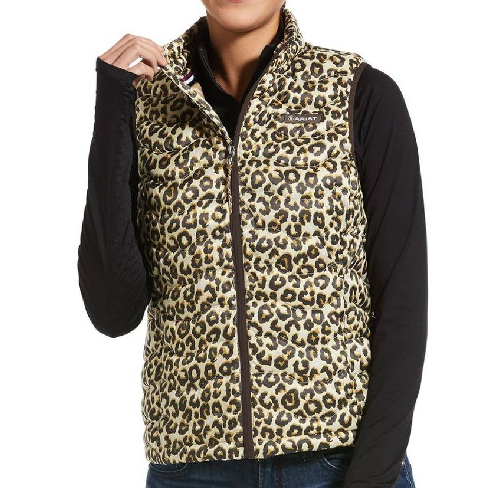 Ariat Leopard Print Down Vest WOMEN - Clothing - Outerwear - Vests Ariat Clothing Teskeys