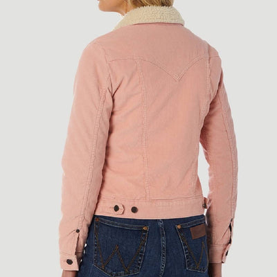 Wrangler Pink Sherpa Corduroy Jacket WOMEN - Clothing - Outerwear - Jackets ROPER APPAREL & FOOTWEAR Teskeys