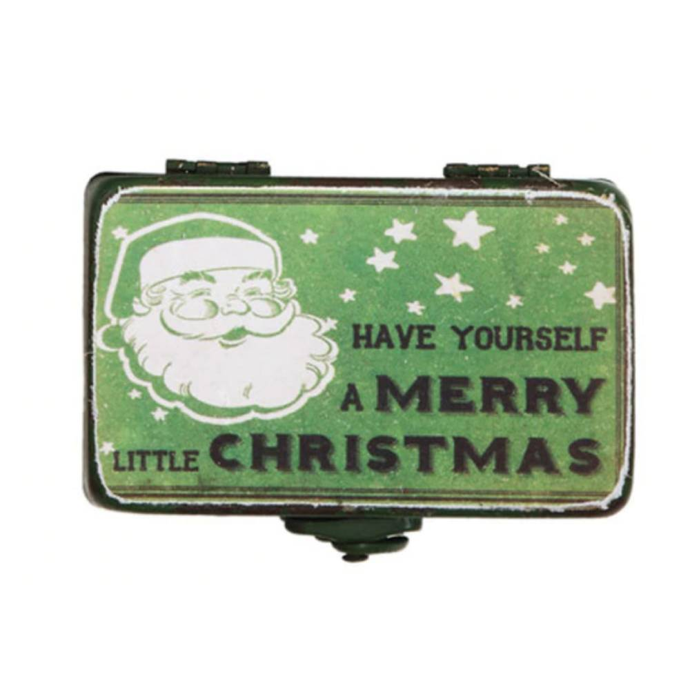 Vintage Green Rectangle Christmas Box HOME & GIFTS - Home Decor - Seasonal Decor Creative Co-Op Teskeys