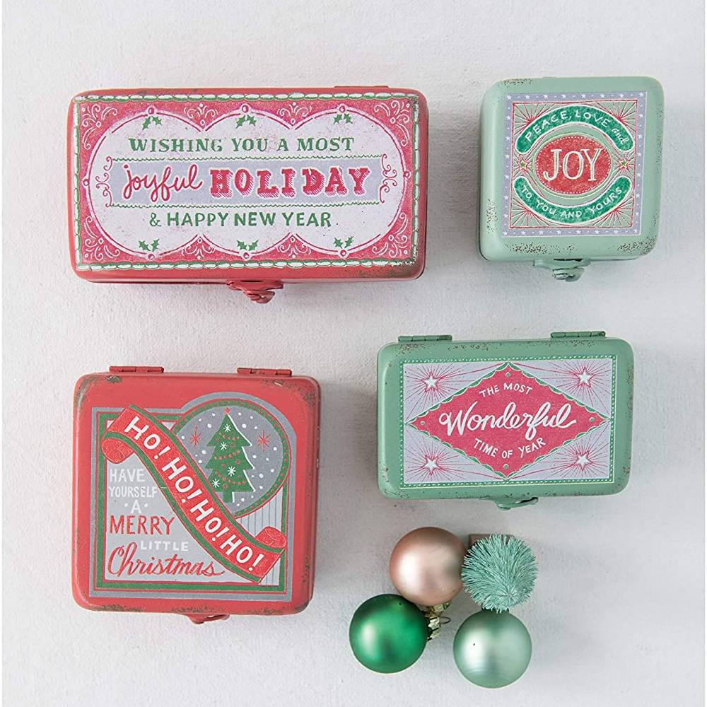 Decorative Metal Holiday Box HOME & GIFTS - Home Decor - Seasonal Decor Creative Co-Op Teskeys