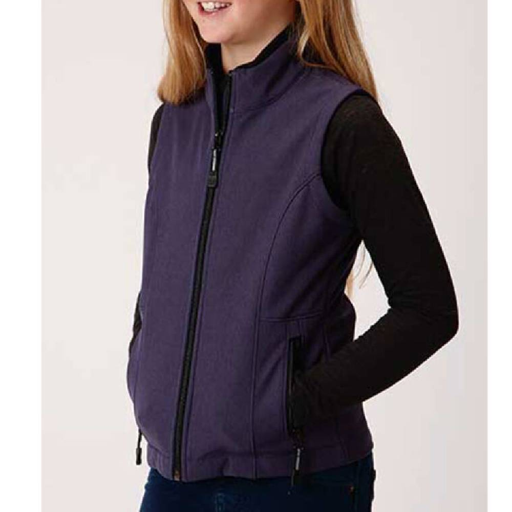Roper Girl's Soft Shell Fleece Vest KIDS - Girls - Clothing - Outerwear - Vests ROPER APPAREL & FOOTWEAR Teskeys