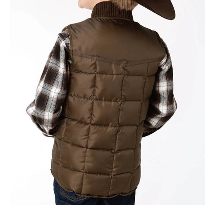 Roper Boy's Quilted Down Vest KIDS - Boys - Clothing - Outerwear - Vests ROPER APPAREL & FOOTWEAR Teskeys