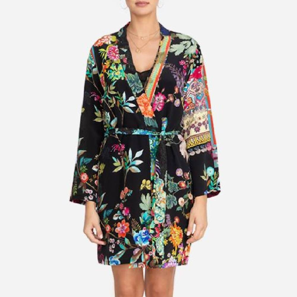 Johnny Was Evelyn Floral Robe WOMEN - Clothing - Loungewear JOHNNY WAS COLLECTION Teskeys