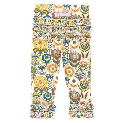 Ruffle Butts Paisley Harvest Ruffle Legging KIDS - Baby - Baby Girl Clothing RUFFLE BUTTS/RUGGED BUTTS Teskeys