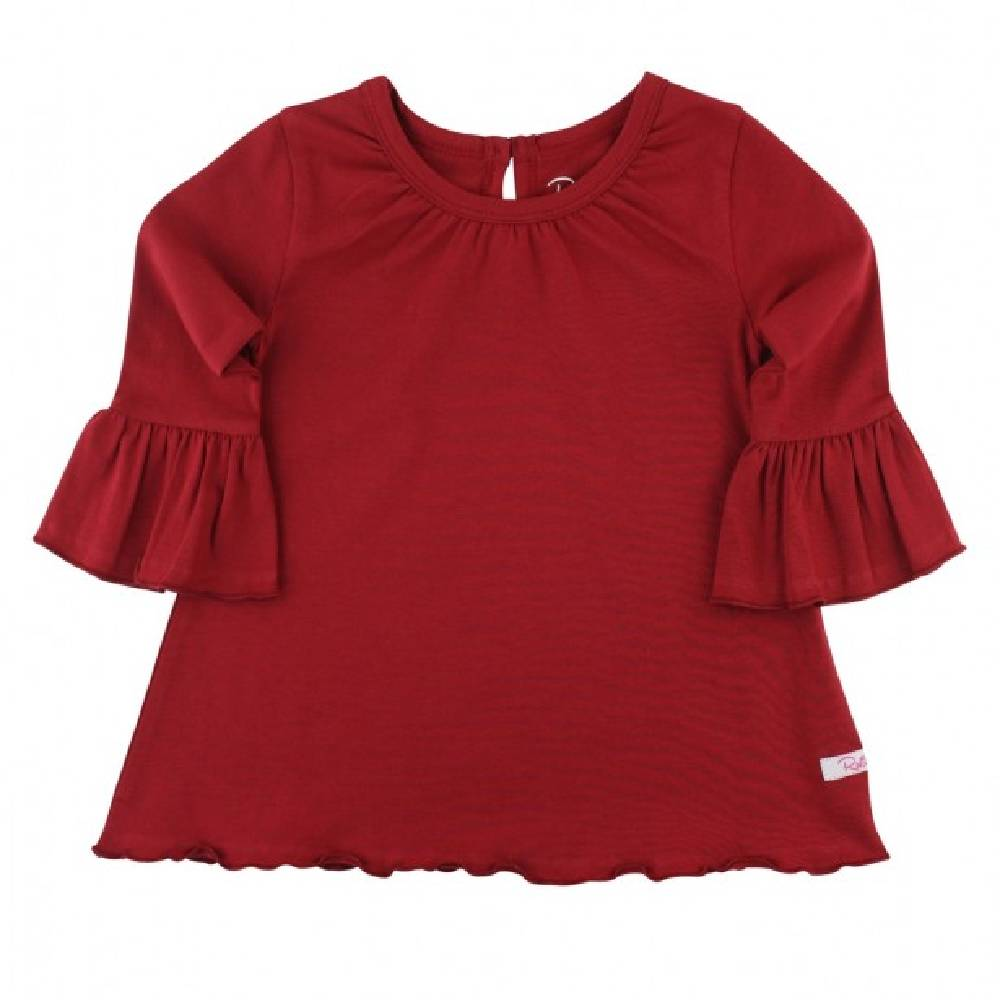 Ruffle Butts Cranberry Belle Top KIDS - Baby - Baby Girl Clothing RUFFLE BUTTS/RUGGED BUTTS Teskeys
