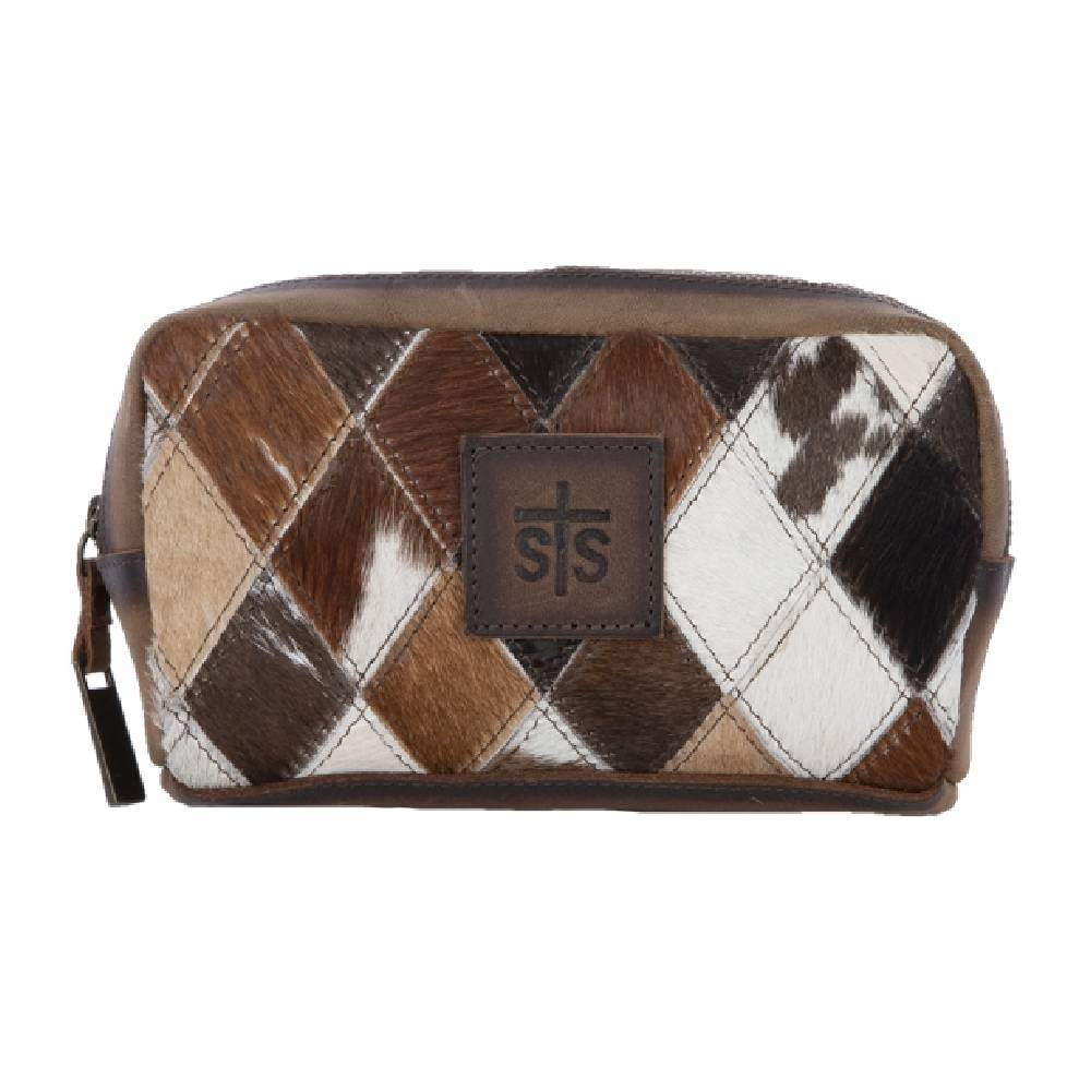 STS Ranchwear Diamond Cowhide Cosmetic Case WOMEN - Accessories - Handbags - Crossbody bags STS Ranchwear Teskeys