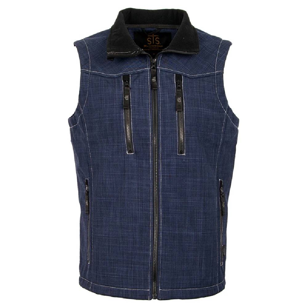 STS Ranchwear Youth Perf Vest - Navy KIDS - Boys - Clothing - Outerwear - Vests STS Ranchwear Teskeys