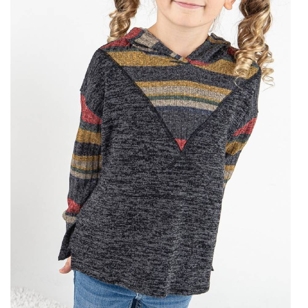 Girl's Multi Stripe Hoodie KIDS - Girls - Clothing - Sweatshirts & Hoodies 12PM By Mon Ami Teskeys