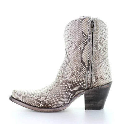 Corral Natural Python Bootie WOMEN - Footwear - Boots - Booties CORRAL BOOTS Teskeys
