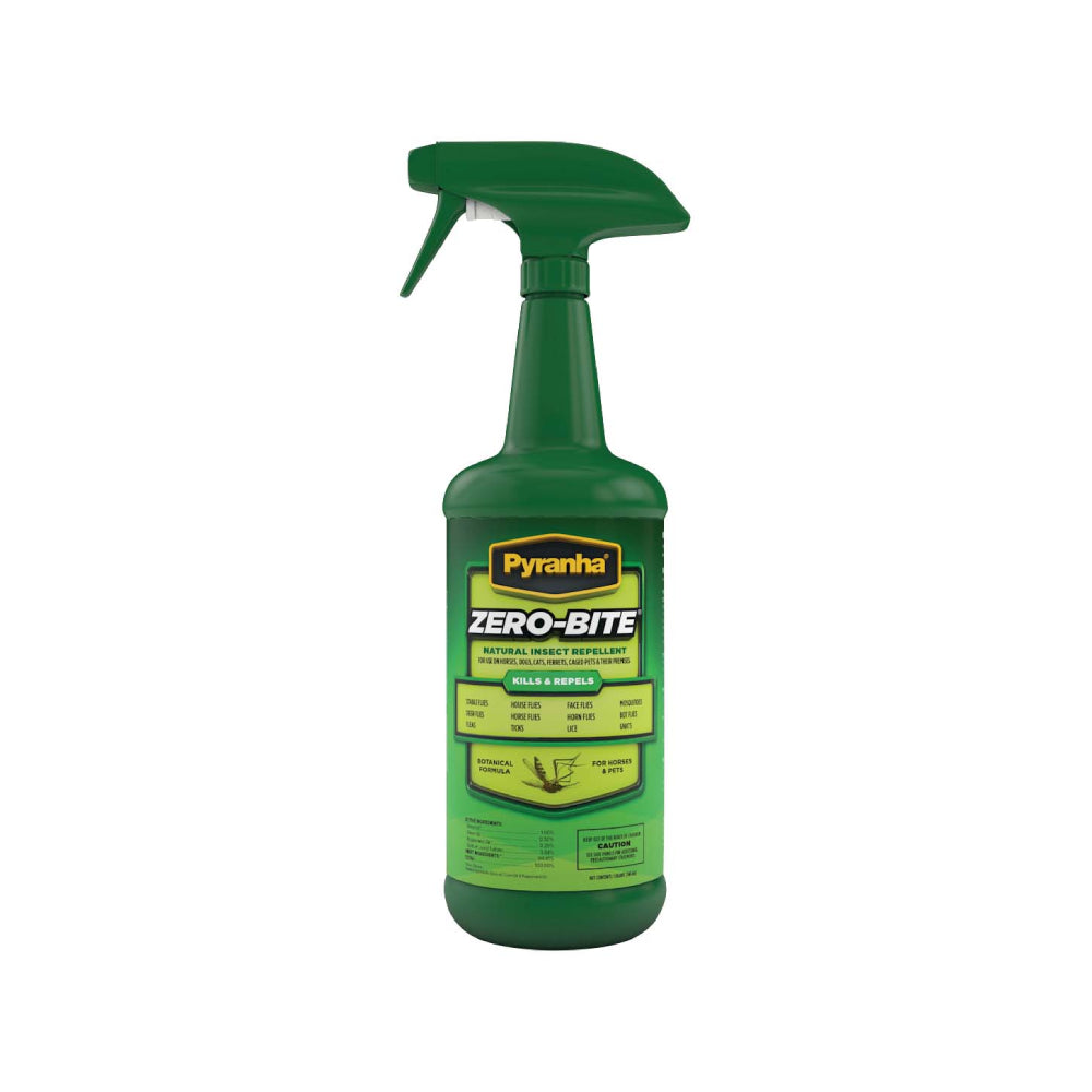 Pyranha Zero Bite Natural Insect Repellent FARM & RANCH - Animal Care - Equine - Fly & Insect Control - Fly spray Pyranha Teskeys