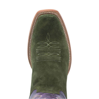 R. Watson Forest Green Rough-Out Boot WOMEN - Footwear - Boots - Western Boots R WATSON Teskeys