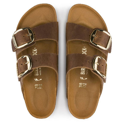 Birkenstock Arizona Big Buckle Cognac WOMEN - Footwear - Sandals BIRKENSTOCK Teskeys
