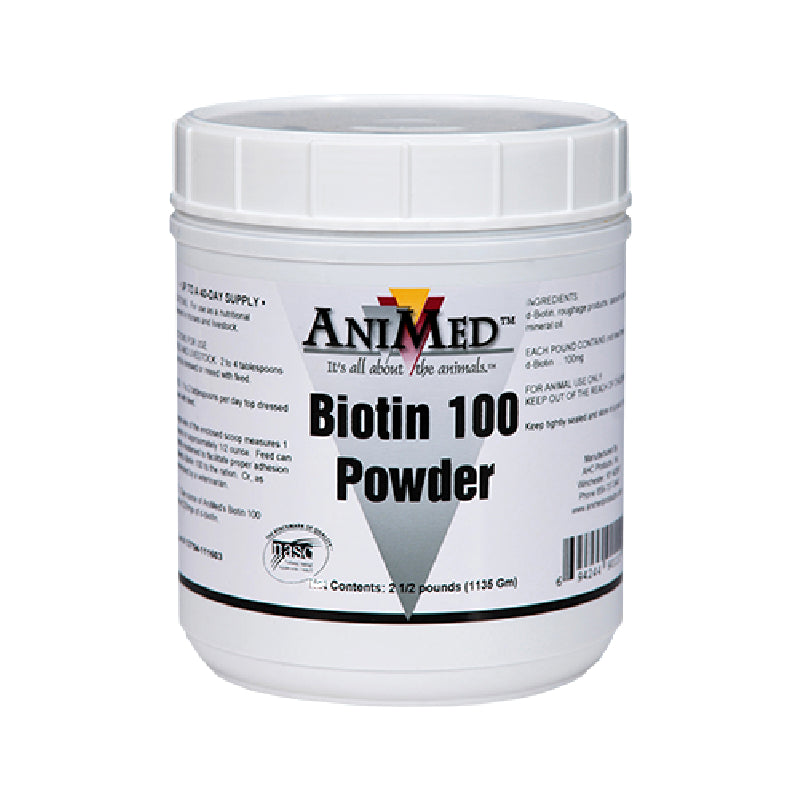 Biotin 100 FARM & RANCH - Animal Care - Equine - Supplements - Vitamins & Minerals Animed Teskeys