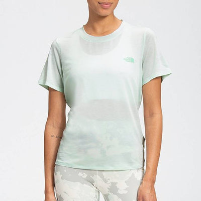 The North Face Women's Wander Twist Tee - Misty Jade Heather WOMEN - Clothing - Tops - Short Sleeved The North Face Teskeys