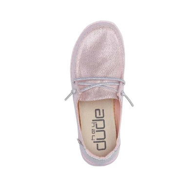Hey Dude Youth Wendy Canvas  - Sparkling Pink KIDS - Footwear - Casual Shoes HEY DUDE Teskeys
