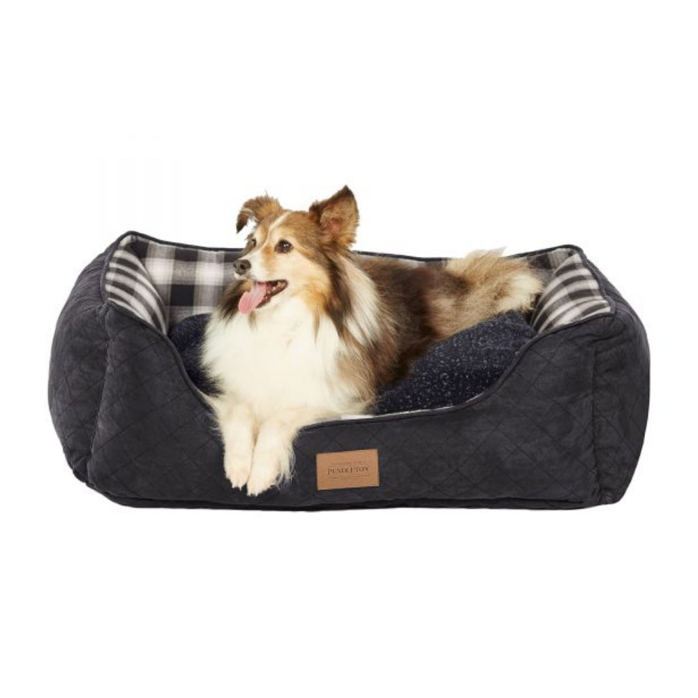 Pendleton Pet Charcoal Ombre Plaid Kuddler FARM & RANCH - Animal Care - Pets - Accessories - Kennels & Beds PENDLETON Teskeys