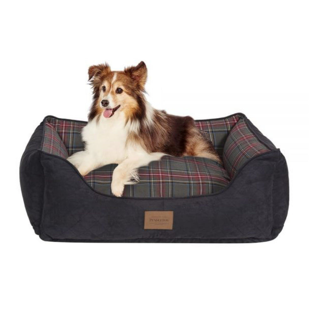 Pendleton Pet Grey Sewart Plaid Kuddler FARM & RANCH - Animal Care - Pets - Accessories - Kennels & Beds PENDLETON Teskeys