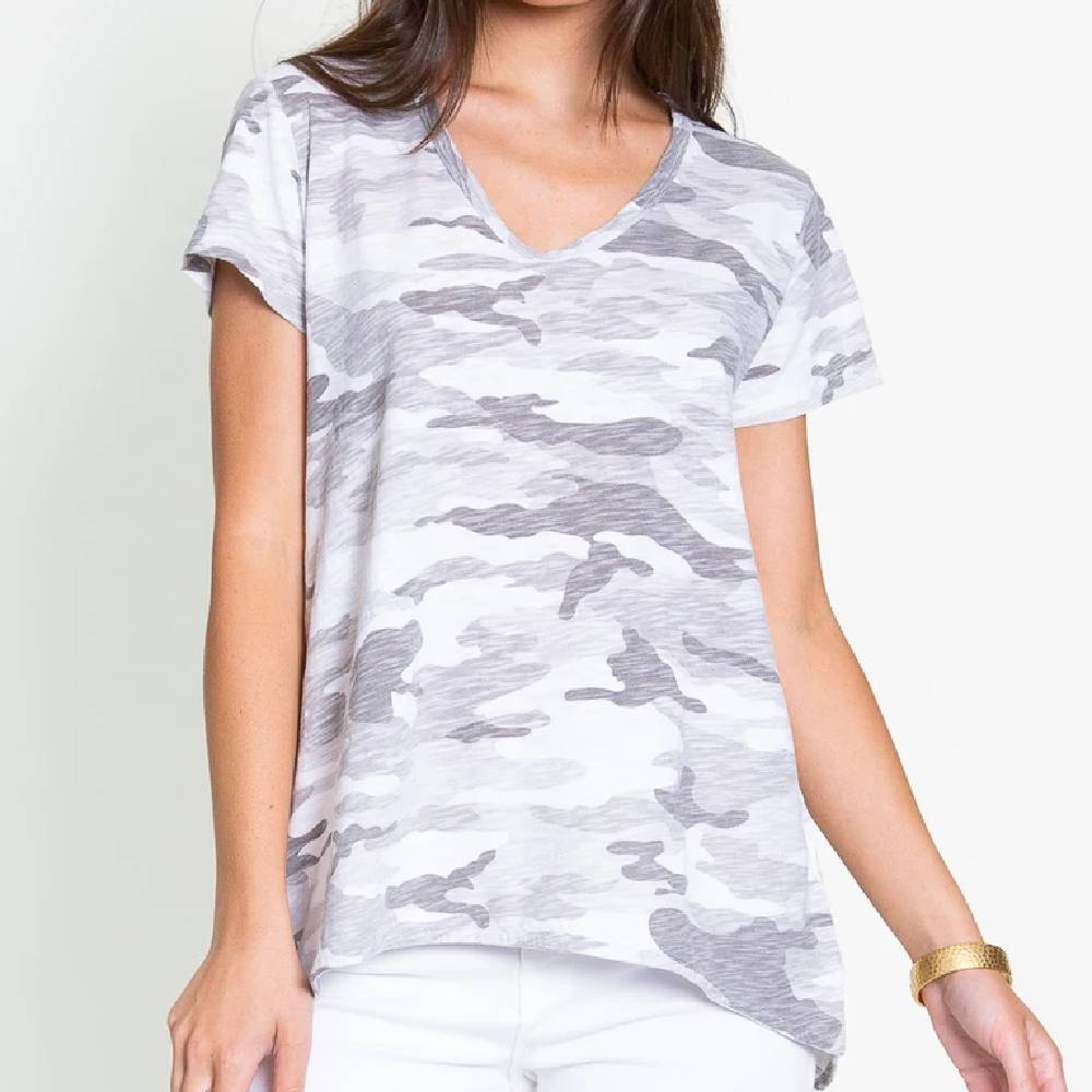 Dylan Camo Boyfriend Tee WOMEN - Clothing - Tops - Short Sleeved DYLAN Teskeys