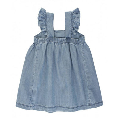 Ruffle Butts Denim Flutter Dress KIDS - Baby - Baby Girl Clothing RUFFLE BUTTS/RUGGED BUTTS Teskeys