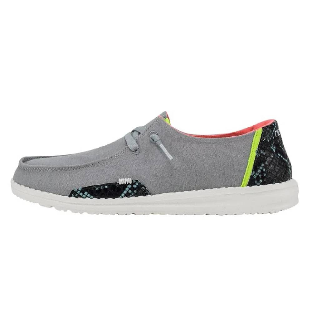 Hey Dude Women's Wendy - Snake Linen Steel Grey