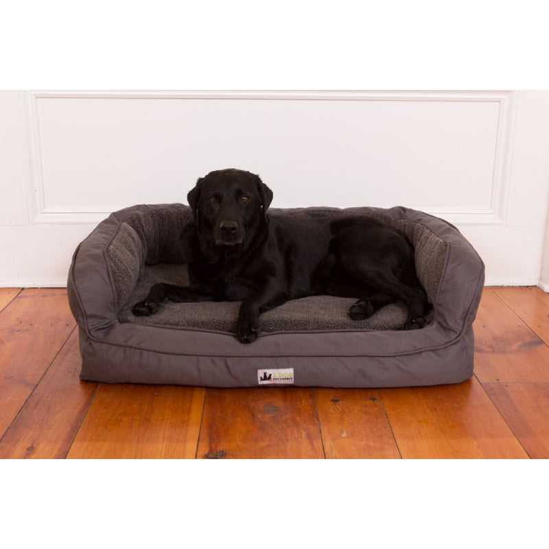 3 Dog EZ Wash Headrest Memory Foam Dog Bed With Fleece FARM & RANCH - Animal Care - Pets - Accessories - Kennels & Beds 3 Dog Pet Supply Teskeys