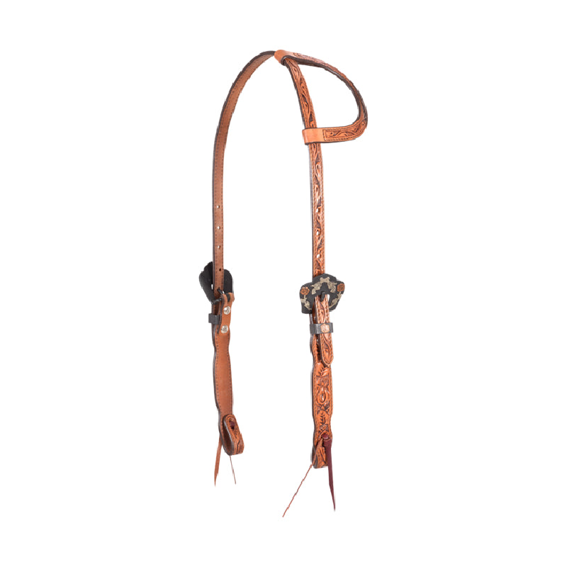Cashel Guns And Roses One Ear Headstall Tack - Headstalls Cashel Teskeys