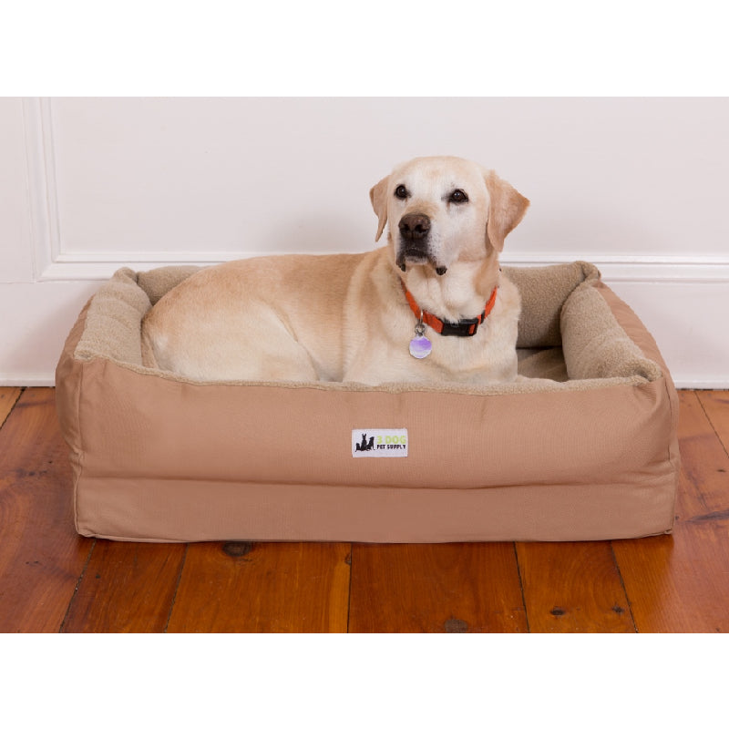 3 Dog EZ-Wash Fleece Lounger Memory Foam Dog Bed FARM & RANCH - Animal Care - Pets - Accessories - Kennels & Beds 3 Dog Pet Supply Teskeys