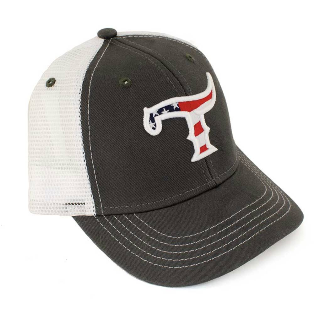 Teskey's T Logo Youth American Flag Cap TESKEY'S GEAR - Youth Baseball Caps OURAY SPORTSWEAR Teskeys