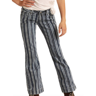 Rock & Roll Girl's Stripe Trousers KIDS - Girls - Clothing - Jeans Panhandle Teskeys