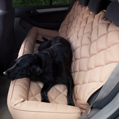 3 Dog Quilted Back Seat Protector With Bolster FARM & RANCH - Animal Care - Pets - Accessories - Kennels & Beds 3 Dog Pet Supply Teskeys