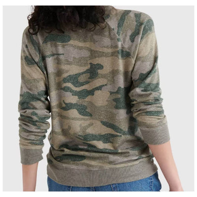 Lucky Brand Green Camo Pullover WOMEN - Clothing - Sweatshirts & Hoodies LUCKY BRAND JEANS Teskeys