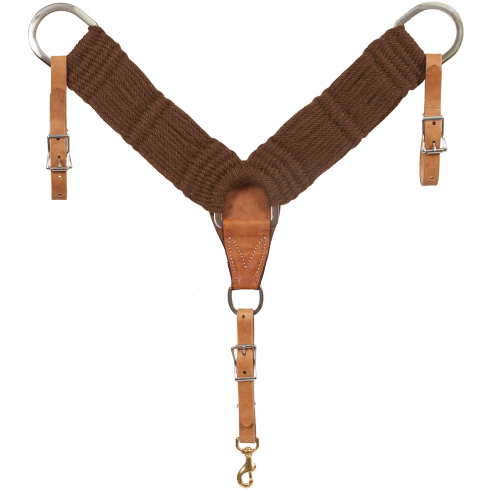 100% Alpaca Breast Collar Tack - Breast Collar Mustang Teskeys