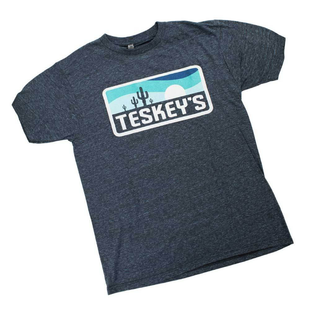 Teskey's Sunset Cactus Tee - Midnight Blue TESKEY'S GEAR - SS T-Shirts OURAY SPORTSWEAR Teskeys