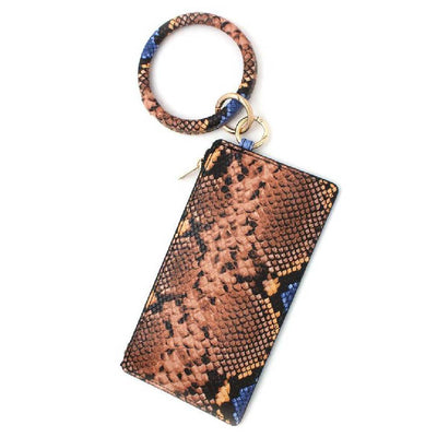 Snake Print Pouch Keychain - Multiple Colors WOMEN - Accessories - Small Accessories FASHIONISTAR Teskeys