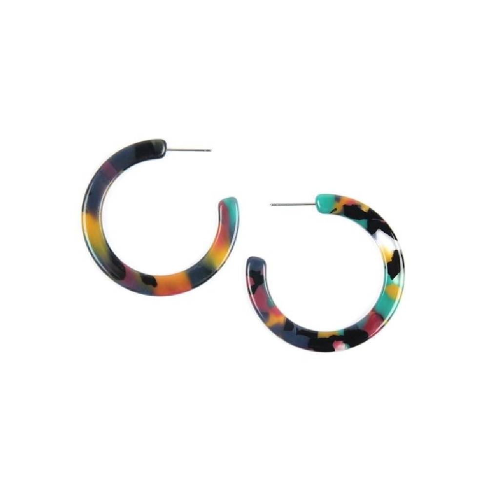 Colorful Post Hoop Earring WOMEN - Accessories - Jewelry - Earrings FASHIONISTAR Teskeys