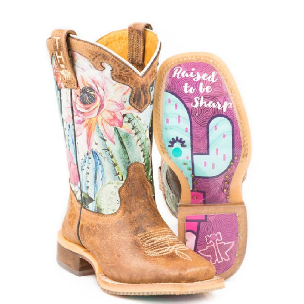 Tin Haul Girl's Cactilicious Boot KIDS - Girls - Footwear - Boots ROPER APPAREL & FOOTWEAR Teskeys