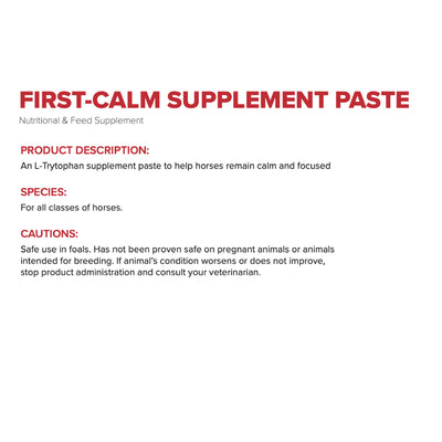 First Calm Paste FARM & RANCH - Animal Care - Equine - Supplements - Calming First Companion Teskeys
