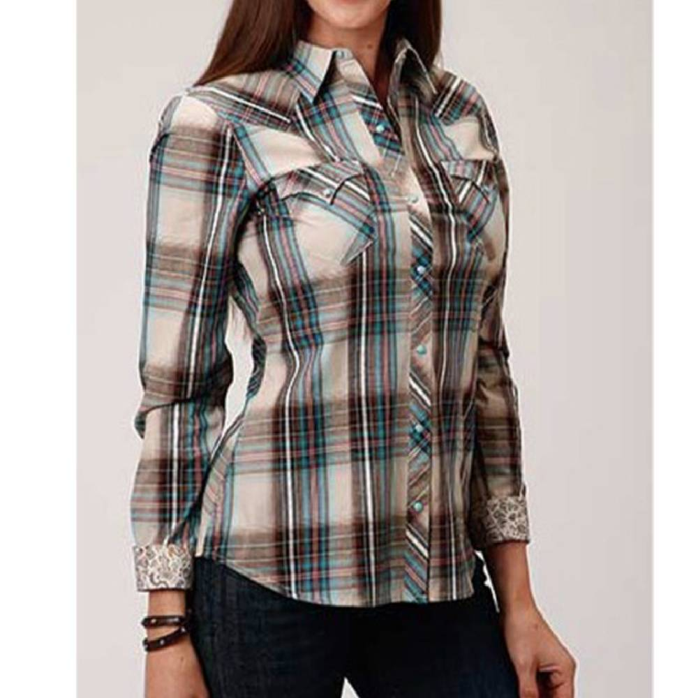 Roper Women's Plaid Snap Shirt WOMEN - Clothing - Tops - Long Sleeved ROPER APPAREL & FOOTWEAR Teskeys