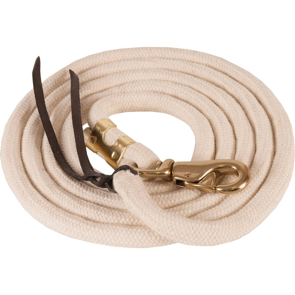 Teskey's Pima Cotton Lead with Bull Snaps Tack - Halters & Leads - Leads Mustang Teskeys