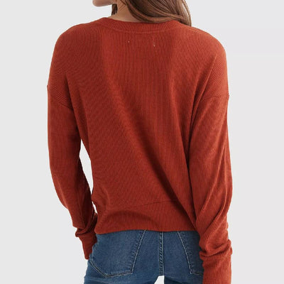 Lucky Brand Cloud Jersey Wrap Top WOMEN - Clothing - Tops - Long Sleeved LUCKY BRAND JEANS Teskeys