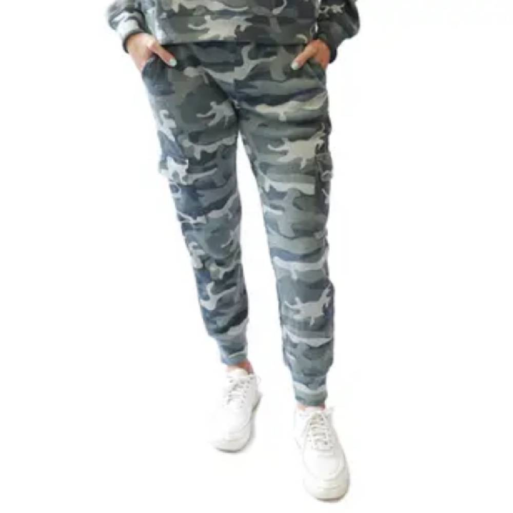 Camo Knit Waffle Jogger Pant WOMEN - Clothing - Pants & Leggings RD INTERNATIONAL Teskeys