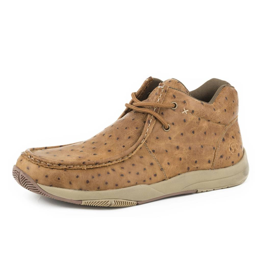 Roper Ostrich Clearcut Tan Chukka MEN - Footwear - Casual Shoes ROPER APPAREL & FOOTWEAR Teskeys