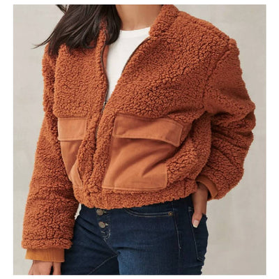 Lucky Brand Ginger Teddy Coat WOMEN - Clothing - Tops - Long Sleeved LUCKY BRAND JEANS Teskeys