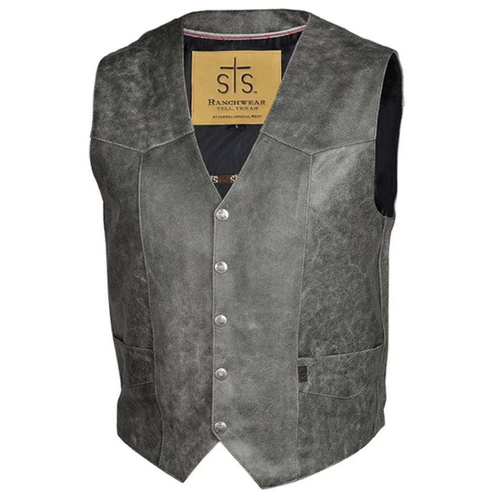 STS Ranchwear Chisum Vest - Gunsmoke MEN - Clothing - Outerwear - Vests STS Ranchwear Teskeys