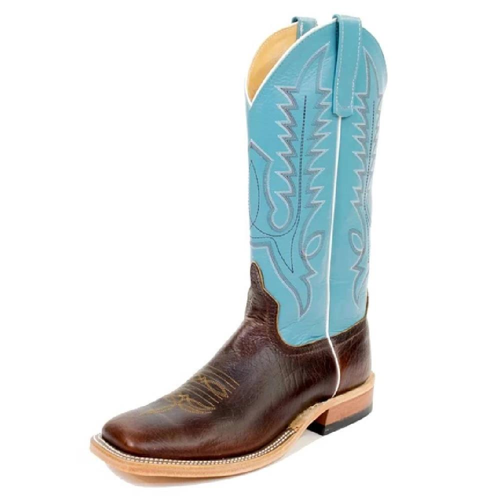 Anderson Bean Bison/Blue MEN - Footwear - Western Boots ANDERSON BEAN BOOT CO. Teskeys