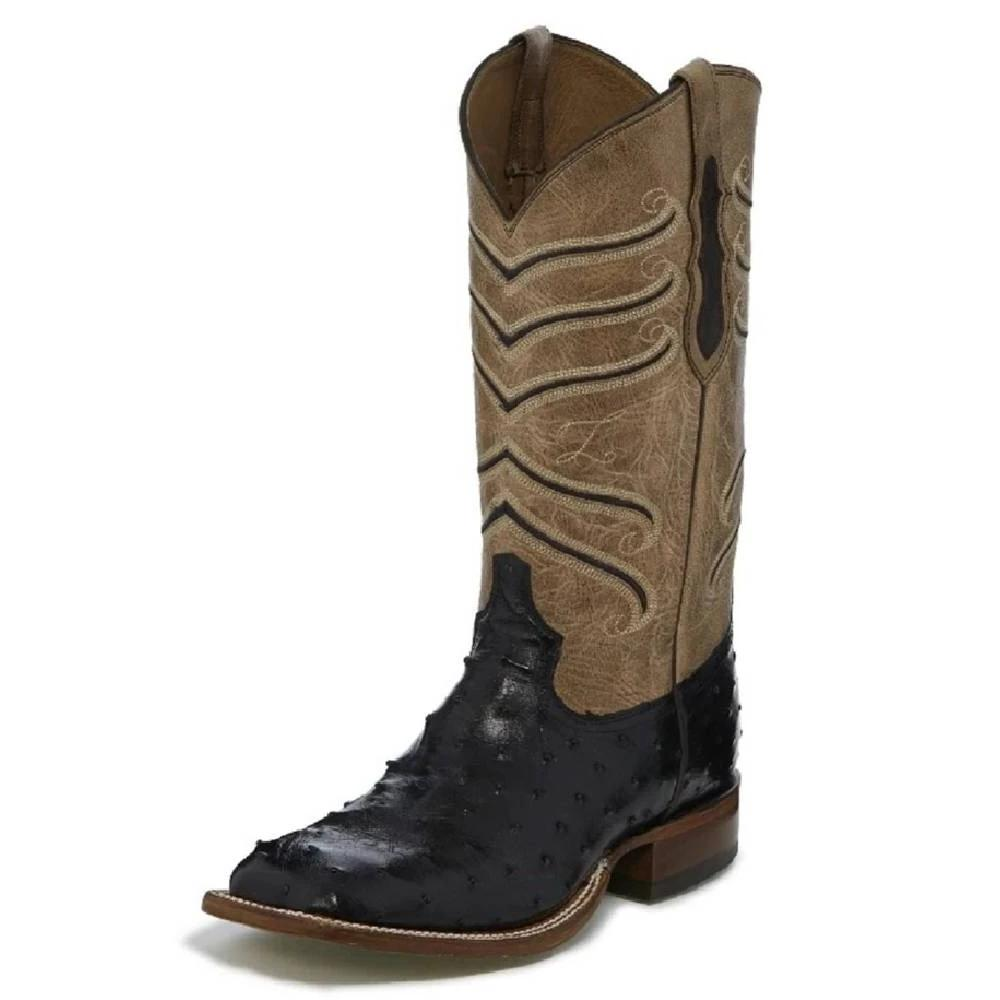 Tony Lama Black Hermoso Full Quill Ostrich MEN - Footwear - Exotic Western Boots TONY LAMA BOOTS Teskeys