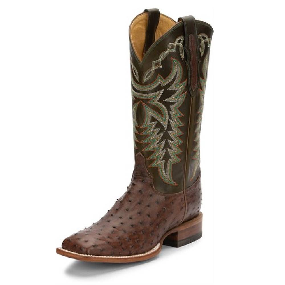 Justin Pascoe Kango FQ Ostrich MEN - Footwear - Exotic Western Boots JUSTIN BOOT CO. Teskeys