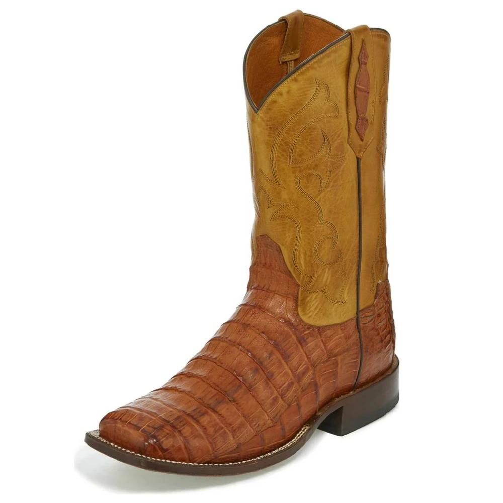 Tony Lama Brandy Caiman Belly Boot MEN - Footwear - Exotic Western Boots TONY LAMA BOOTS Teskeys
